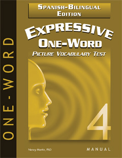 Expressive One-Word Picture Vocabulary Test 4-Spanish Edition (EOWPVT4-SBE)- NEW!