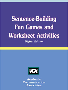 Sentence-Building Fun Games and Worksheet Activities (CD edition) -NEW