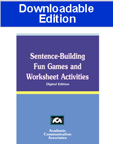 Sentence-Building Fun Games and Worksheet Activities (Downloadable Product) -NEW