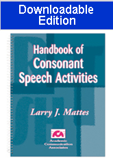 Handbook of Consonant Speech Activities (Downloadable Edition)- SAVE $16.00