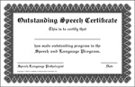 Outstanding Speech Certificate