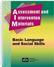 Assessment and Intervention Materials -Basic Language and Social Skills (AIM)- BOOK and CD