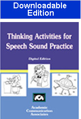 Thinking Activities for Speech Sound Practice (Downloadable Product) - New! -  $5.00