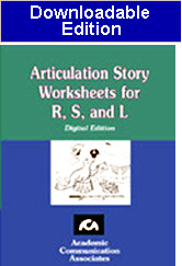 Articulation Story Worksheets for R, S, and L  (Downloadable Product) -New!