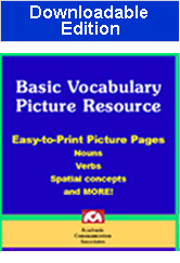 Basic Vocabulary Picture Resource (Downloadable Edition) - Save $15.00