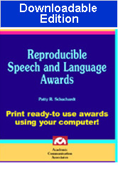 Reproducible Speech and Language Awards (Downloadable Edition) - Special  Offer!