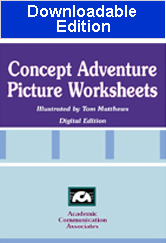 Concept Adventure Picture Worksheets (Downloadable Edition)
