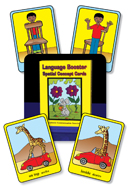 Language Booster Spatial Concept Cards - English and Spanish