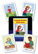 Language Booster Action Cards - English and Spanish