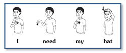 sign language sentence builders speechtherapy materials