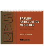 Spanish Articulation Measures (SAM)- COMPLETE KIT INCLUDES MANUAL AND 50 FORMS
