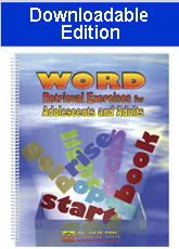 Word Retrieval Exercises for Adolescents and Adults (Downloadable Edition)