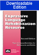 Expressive Language Rehabilitation Resource (Downloadable Edition)