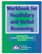 Workbook for Vocabulary and Verbal Reasoning