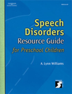 Speech Disorders Resource Guide for Preschool Children - Special Offer!