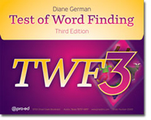 Test of Word Finding-3 - COMPLETE KIT